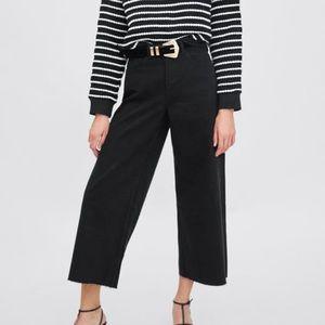 Zara high rise culotte Jeans